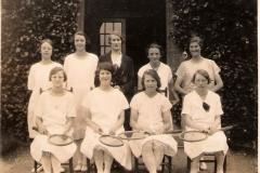 1931ish Gretta in MADC tennis team