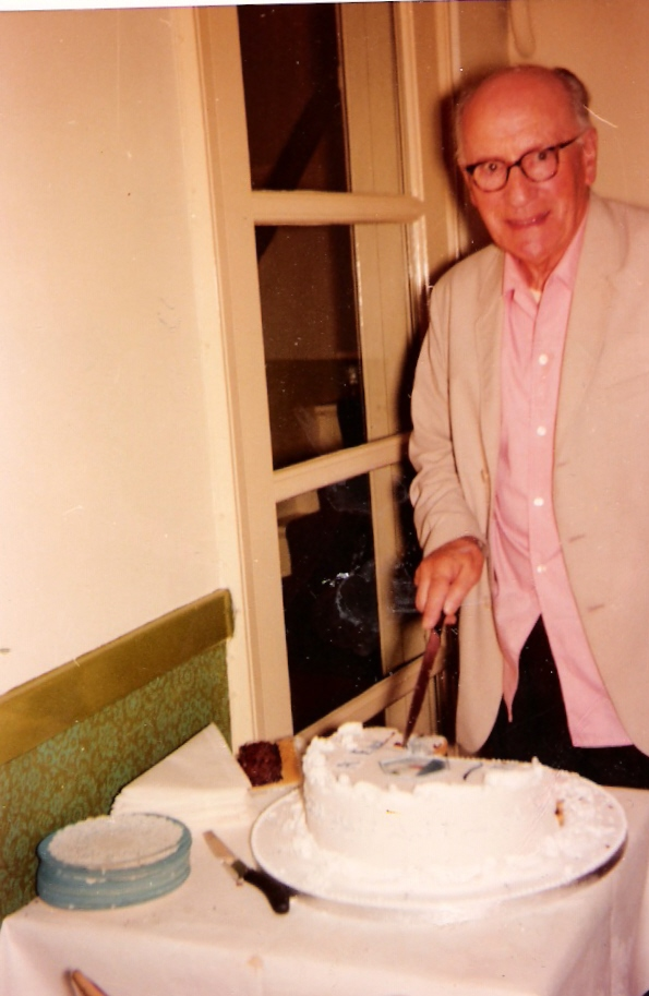 1974.8.22 William Arthur at 90th birthday