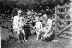 1943ish Arthur Colin Dick John in Cumberland (J for just 24 hours)
