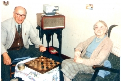 1958+ Arthur & Bertha. 'Granny was a good draughts player - trained by her father, an expert'